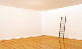 Empty room with ladder Stock Photo