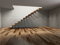 Empty room with ladder Stock Images