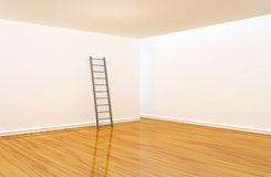 Empty room with ladder Royalty Free Stock Photos