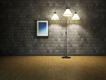 Empty room with lamp Stock Image