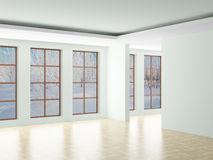 Empty room. Landscape behind the open window. Stock Images
