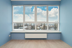 Empty room with large window Royalty Free Stock Image