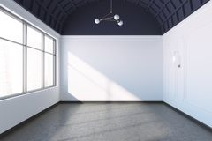 Empty room with large windows Royalty Free Stock Image