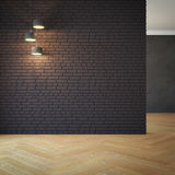 Empty room with light Royalty Free Stock Photos