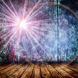 Empty room with light star and light rays. Royalty Free Stock Photos