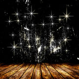 Empty room with light star and light rays. Stock Images