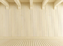 Empty room with light wood Royalty Free Stock Photo