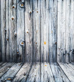 Empty room with light wooden wall and floor Royalty Free Stock Image