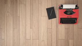 Empty room, loft, attic, parquet wooden floor and wooden ceiling royalty free stock images