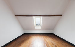 Empty room of a loft Stock Photo
