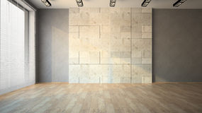 Empty room with louvers Royalty Free Stock Photos