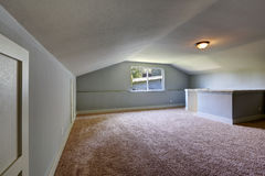 Empty room with low vaulted ceiling Stock Photos