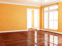 Empty room with many windows, Stock Images