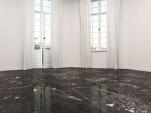 Empty room with a marble floor Royalty Free Stock Image