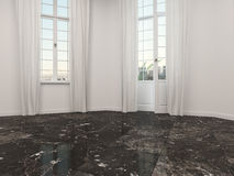 Empty room with a marble floor Royalty Free Stock Photos