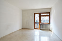 Empty room with marble floor Stock Photography