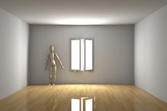 Empty room - Melancholic Royalty Free Stock Photography