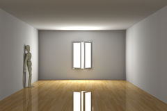 Empty room - Melancholic Stock Images