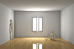 Empty room - Melancholic Royalty Free Stock Image
