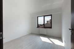 Empty room in a new apartment Stock Photography