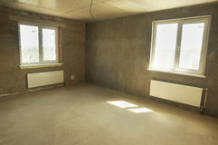 Empty room in a new building Royalty Free Stock Photo