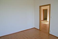 Empty room in a new flat. Room with no furniture in a new flat Stock Images