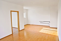 Empty room in a new flat Royalty Free Stock Images
