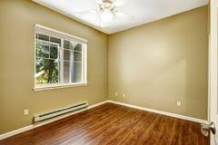 Empty room with new hardwood floor Stock Photos