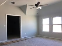Empty room of new house second floor under construction Stock Photography