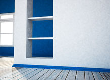 Empty room with the niche 3d Royalty Free Stock Photography