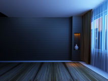 Empty room in the night Royalty Free Stock Image