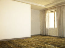 Empty room with an old floor Royalty Free Stock Photo