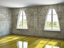 The empty room with old wall Royalty Free Stock Images