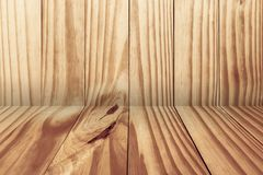 Empty room, Old wood Texture  floor and wall, space background. Empty room, Old wood Texture floor and wall, space background royalty free stock photos