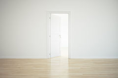 Empty room with a open door Royalty Free Stock Photography