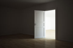 Empty room with a open door Stock Photography