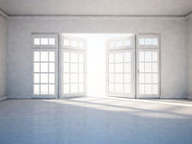 Empty room with open window Royalty Free Stock Image