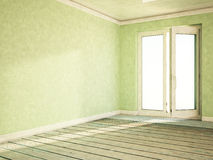 Empty room with an open window, Royalty Free Stock Photos