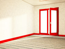 Empty room with an open window, Royalty Free Stock Images