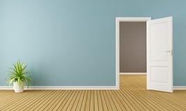 Empty room with opend door Stock Image