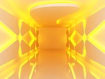 Empty room orange light Royalty Free Stock Photo