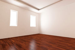 Empty room with parquet floor Royalty Free Stock Photos