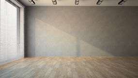 Empty room with parquet floor Stock Photography