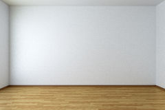 Empty room with parquet floor. Empty room with white walls and wooden parquet floor Royalty Free Stock Images