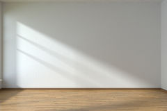 Empty room with parquet floor Stock Images