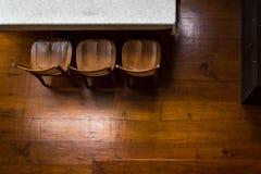 Empty room with parquet flooring Stock Photo