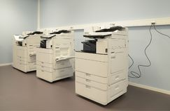 Empty room with photocopier machines.  Royalty Free Stock Photography