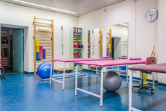 Empty room in physiotherapy clinic Royalty Free Stock Photos