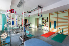 Empty room at physiotherapy clinic Royalty Free Stock Image