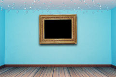 Empty room with picture frame Royalty Free Stock Photos